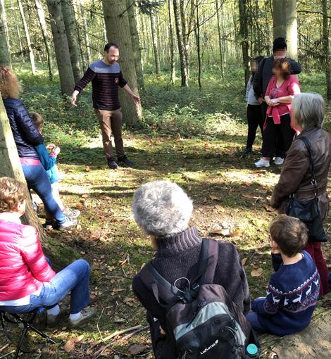 David lors d'une balade contée en forêt