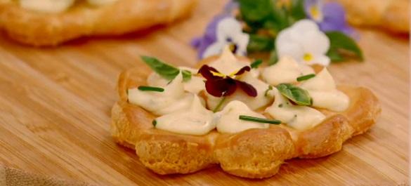 Fleurs au fromage