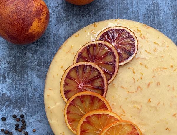 Entremets orange sanguine