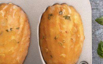 Madeleines citron basilic